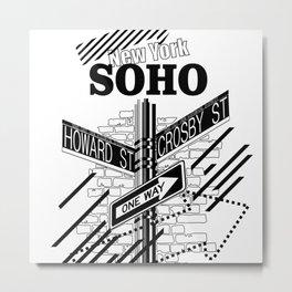 SoHo, New York Metal Print