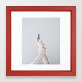 sinking (vertical) Framed Art Print