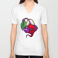 fat V-neck T-shirts featuring Fat Beets by Artistic Dyslexia