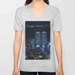 Daegu at Night Unisex V-Neck