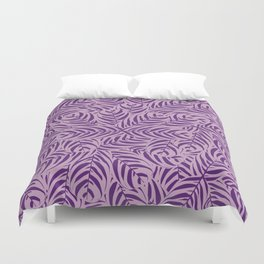 Tropical Leaves Pattern (Violet version) Duvet Cover