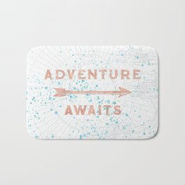 Adventure Awaits Rose Gold Bath Mat