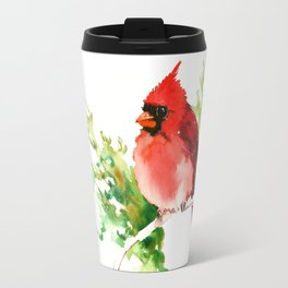 Cardinal Bird Travel Mug