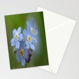Close-up Forget Me Not - Blue Myosotis Stationery Cards
