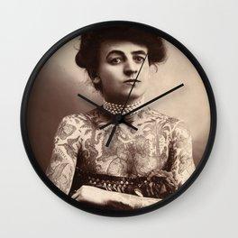 Maud Stevens Wagner Original 1907 Tattooed Lady Wall Clock
