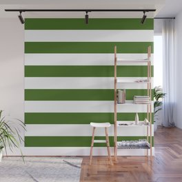 Simply Stripes in Jungle Green Wall Mural