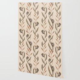 Poppy Pod Pattern Wallpaper
