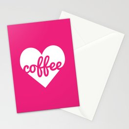 Coffee Heart Stationery Cards