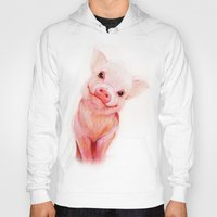 piglet Hoodies featuring Mr. Piglet by Isaiah K. Stephens