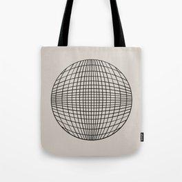 Circular Geometry - Grid Tote Bag