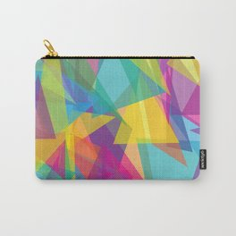 Transparent Triangles Carry-All Pouch