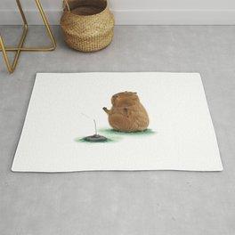 Meditating Capybara Rug