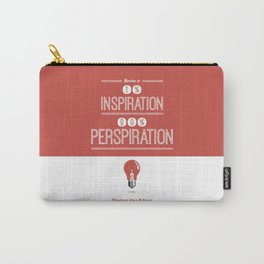 Lab No. 4 - Thomas Alva Edison Quote typography print Inspirational Quotes Poster Carry-All Pouch
