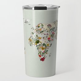 Vintage Botanical World Green Travel Mug