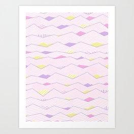 Pastel Waves #society6 #buyart Art Print