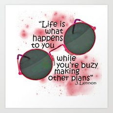 Life By Lennon Art Print