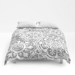 Soft Grey Mandala Pattern Comforters