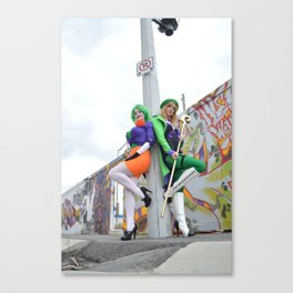 The Team Up - Joker and Riddler Canvas Print