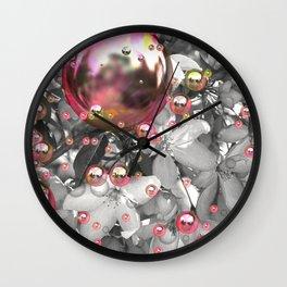 Garden Gazing Globes Wall Clock