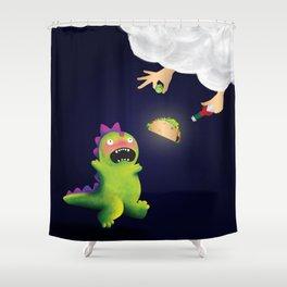 Tacosaurus Shower Curtain