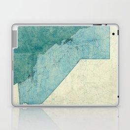 California State Map Blue Vintage Laptop & iPad Skin