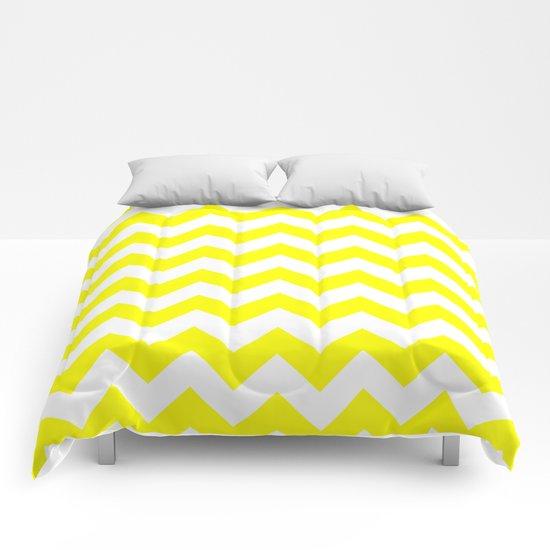 Chevron (Yellow/White) Comforters