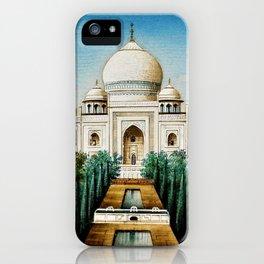 Classical Indian Masterpiece 1825 'Taj Mahal, Agra' - Artist Unknown iPhone Case