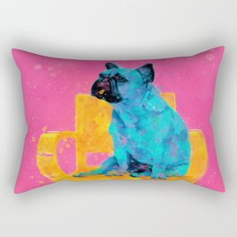Waiting for human, dog friend Rectangular Pillow
