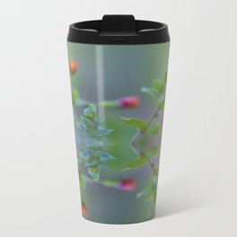 Reflection of little red wildflowers Metal Travel Mug