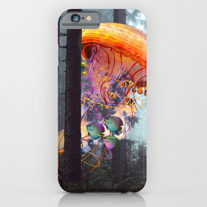 electricjellyfish worlds in a forest iphone case