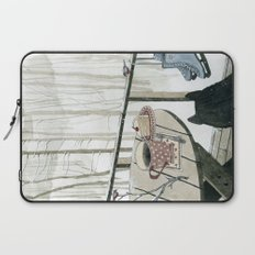 Winter Breakfast on the Porch Laptop Sleeve