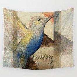 HUMMING BIRD Wall Tapestry