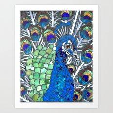 Small Peacock Art Print