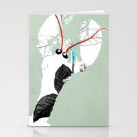 lobster Stationery Cards featuring Lobster by Urška Hočevar