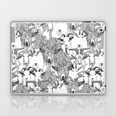 just goats black white Laptop & iPad Skin