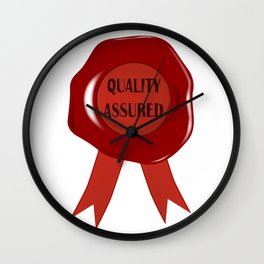 Wax Stamp Quality Assured Wall Clock
