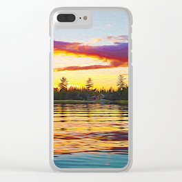 Up North Sunset Clear iPhone Case