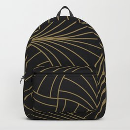 Diamond Series Inter Wave Gold on Charcoal Backpack