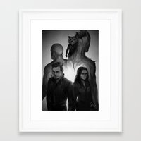 guardians Framed Art Prints featuring guardians by maeng