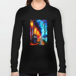 Tardis Colorful Starry Night Long Sleeve T-shirt
