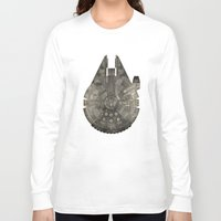 millenium falcon Long Sleeve T-shirts featuring Millennium Falcon by Eric Dufresne