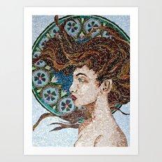 Nouveau - Mixed Glass Mosaic Art Print