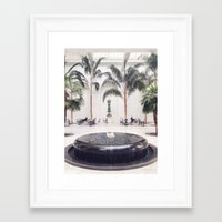 oasis Framed Art Prints featuring Oasis by Ben Noble