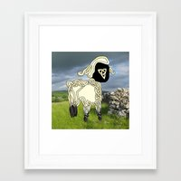 lamb Framed Art Prints featuring Lamb by Knot Your World