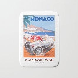 1936 Monaco Grand Prix Race Poster  Bath Mat