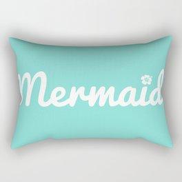 Seafoam Mermaid Rectangular Pillow