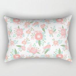 Florals floral pattern minimal basic trendy bouquet spring summer nursery decor Rectangular Pillow