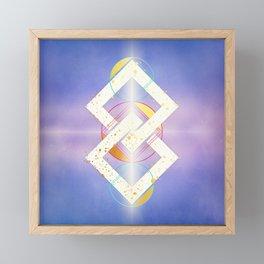 Linked Lilac Diamonds :: Floating Geometry Framed Mini Art Print