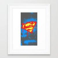 superheros Framed Art Prints featuring Super S by Sophie Rousseau