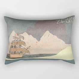 Ship - inspired by Zebrat Rectangular Pillow
